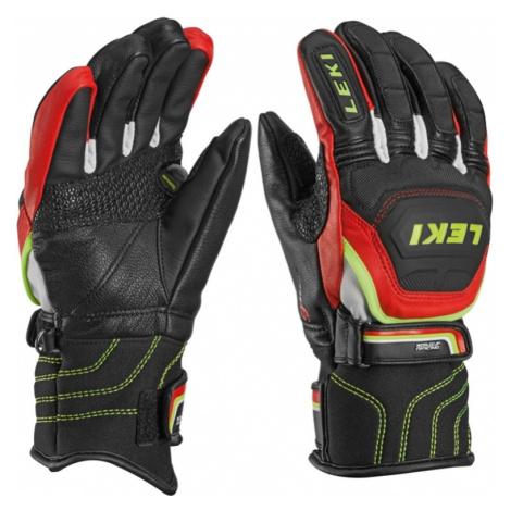 Handschuhe LEKI Worldcup Race Flex S Junior black-red-white-yellow 634-80031