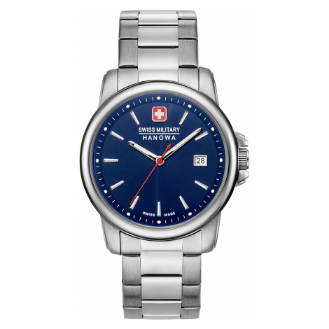 Swiss Military Hanowa 06-5230.7.04.003 Herrenuhr Swiss Recruit II Edelstahl/Blau