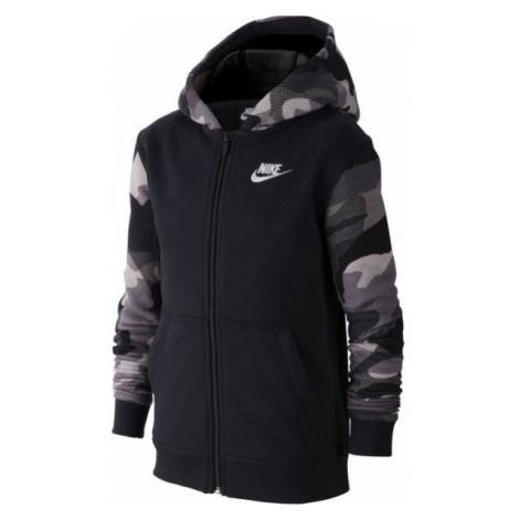 Nike NSW FZ CLUB AOP2 schwarz - Jungen Sweatshirt
