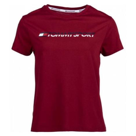 Tommy Hilfiger TEE LOGO CO/EA rot - Damenshirt