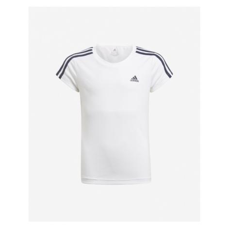 adidas Performance 3-Stripes Kinder  T‑Shirt Weiß