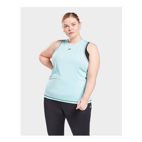 Reebok workout ready mesh tanktop (plus size) - Digital Glow - Damen, Digital Glow