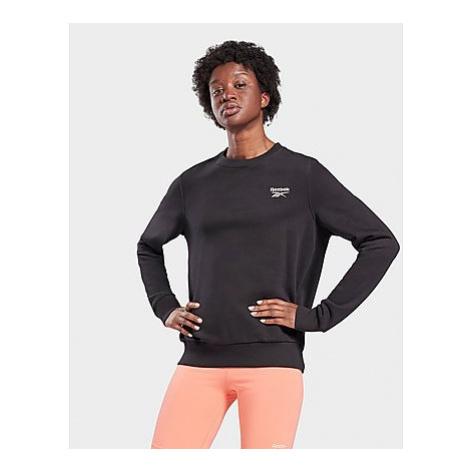 Reebok reebok identity french terry crew sweatshirt - Black - Damen, Black