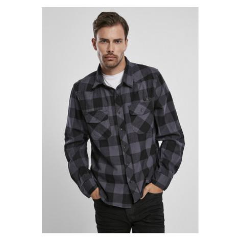 Brandit Checked Shirt black/charcoal