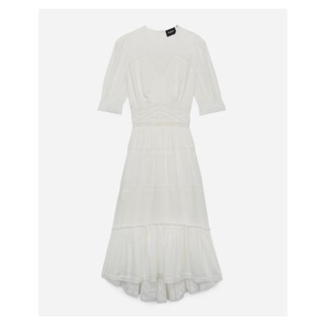 The Kooples - Langes Kleid ecrufarben Spitzenstreifen - HERREN