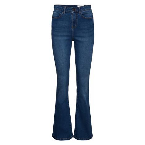 Noisy May Damen Jeans Nmsallie Hw Flare Vi021Mb - Flare Fit - Blau - Medium Blue