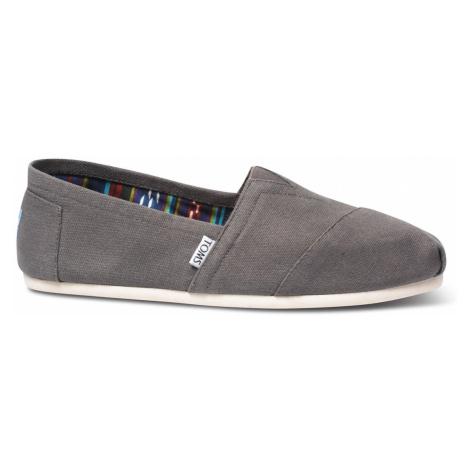 Graue slipper für herren