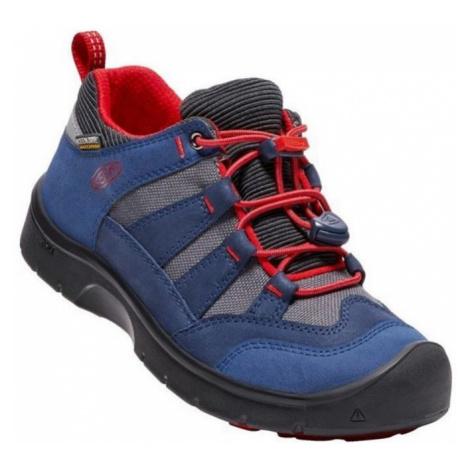 Kinder Schuhe Keen Wanderweg WP Jr., Dress blues / feuer red
