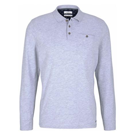 TOM TAILOR Herren Poloshirt mit Bio-Baumwolle , grau