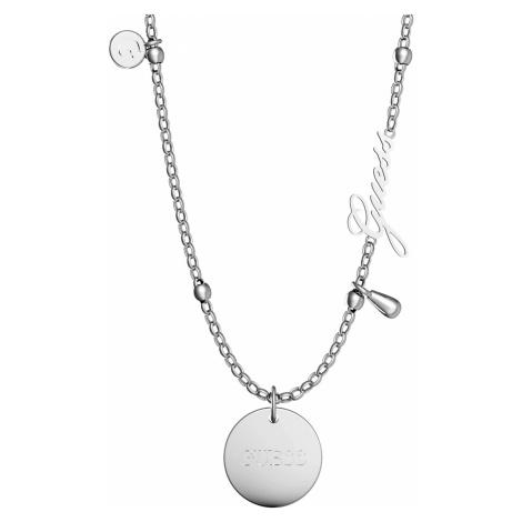Guess JUBN29101JW Damen-Halskette Peony Art Charm Edelstahl