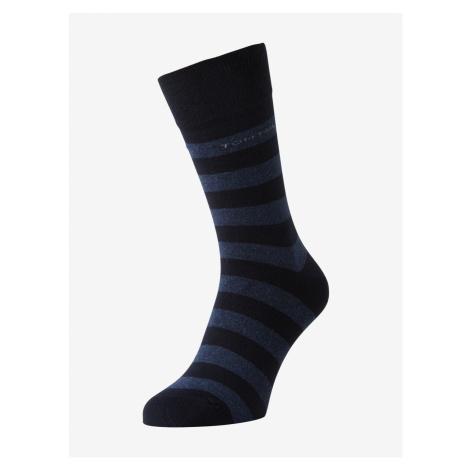 TOM TAILOR Herren Socken im Doppelpack, blau, gestreift