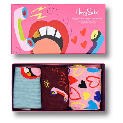Happy Socks Geschenkbox SINGLE READY TO MINGLE SOCKS GIFT SET 3-PACK XSRM08-3300 Mehrfarbig