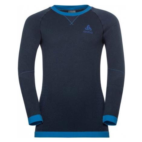 Odlo BL TOP CREW NECK L/S PERFORMANCE WARM KI blau - Kinder T-Shirt