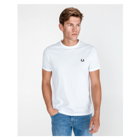Fred Perry Ringer T-Shirt Weiß