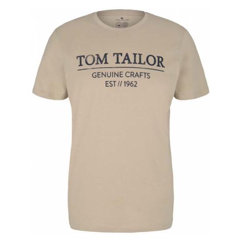 TOM TAILOR Herren T-Shirt mit Bio-Baumwolle, beige
