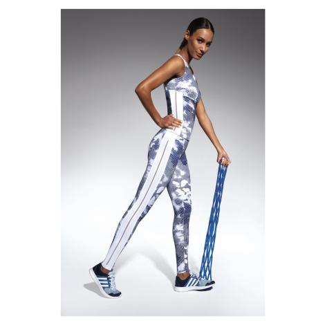 Damen Sportleggings Code white-blue Bas Bleu