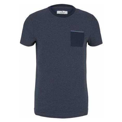 TOM TAILOR Herren strukturiertes T-Shirt, weiß