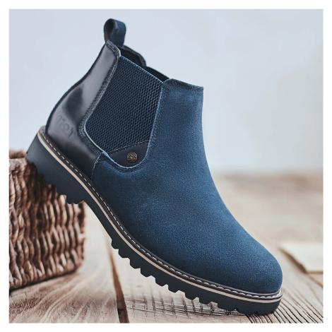 Herren Stylish Wildleder Elastic Slip On Slip Resistant Chelsea Stiefel
