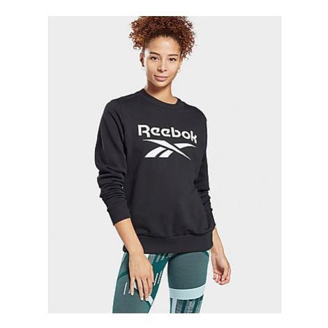 Reebok reebok identity logo french terry crew sweatshirt - Black - Damen, Black