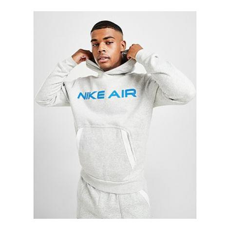 Nike Air Pullover Fleece Hoodie Herren - Grey Heather/Summit White/Infrared 23 - Herren, Grey He