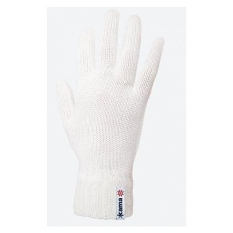 Gestrickte Merino Handschuhe Kama R102 101 natural white