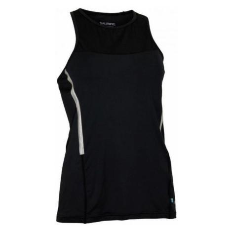 Damen Tank Top/Shirt Salming Laser Tank Women Black Melange