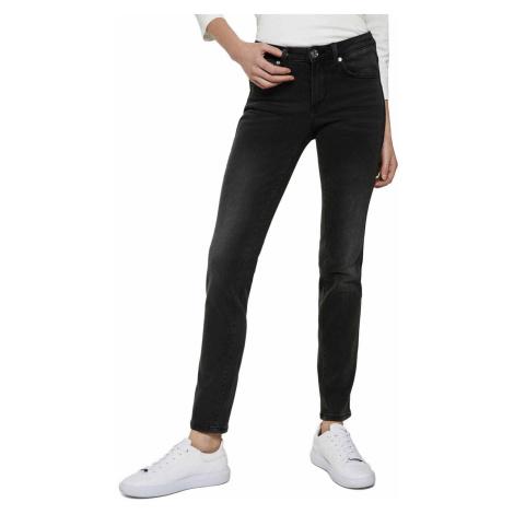 Schwarze jeans straight leg für damen
