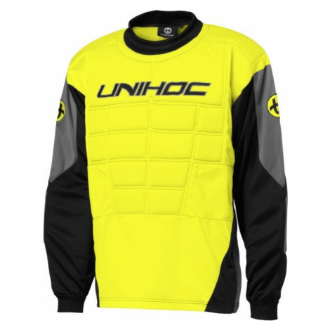 Unihoc GOALIE SWEATER BLOCKER JR gelb - Kinder Torwarttrikot