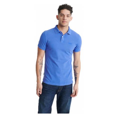 Superdry VINTAGE DESTROYED S/S PIQUE POLO blau - Herren Poloshirt