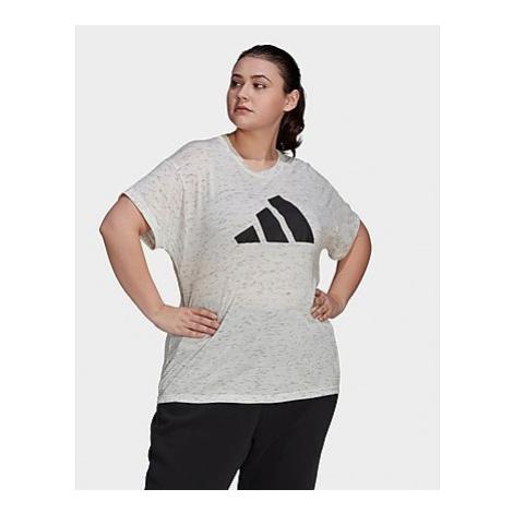 Adidas Sportswear Winners T-Shirt 2.0 - Große Größen - White Melange - Damen, White Melange