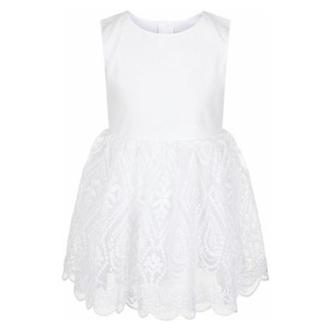 NAME IT Besticktes Tüll Kleid Damen White