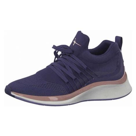 Damen Tamaris Sneaker blau Socks-Schnürer