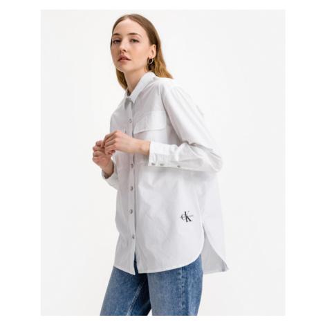 Calvin Klein Twill Hemd Weiß
