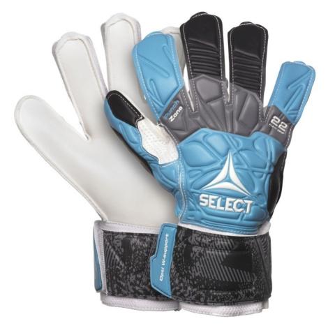 Torwart Handschuhe Select GK handschuhe 22 Flexi Grip Flat schneiden blau black