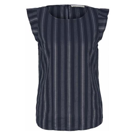 TOM TAILOR DENIM Damen Gestreifte Bluse mit Bio-Baumwolle , blau