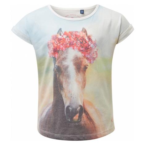 TOM TAILOR Mädchen T-Shirt mit Foto-Print, weiß, unifarben mit Print