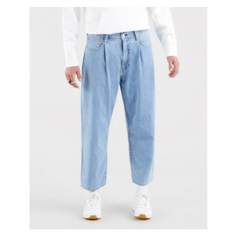 Levi's® Stay Loose Pleated Crop Jeans Blau Levi´s