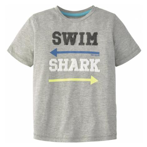 TOM TAILOR Jungen T-Shirt mit Pailletten, grau, unifarben mit Print