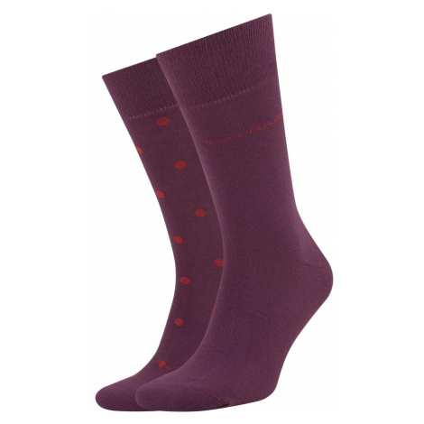 TOM TAILOR Herren Gepunktete Socken im Doppelpack, rot