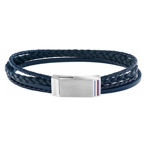 Tommy Hilfiger 2790279 Herren-Armband Leder Blau