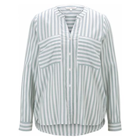 Tom Tailor Denim Damen Hemdbluse Henley Stripe