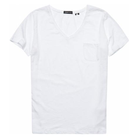 Superdry Damen T-Shirt POCKET V NECK TEE Optic Weiß