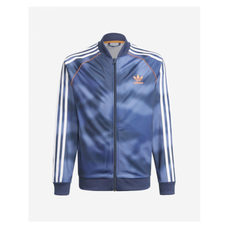 adidas Originals All-Over Print Kids Jacket Blau