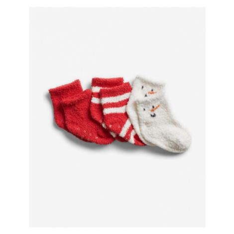 GAP Socks 3 pcs kids Rot Weiß