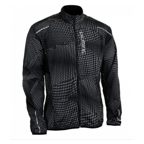 Jacke Salming Ultralite Jacket 3.0 Men Black All Over Print