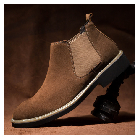 Herren Classic Wildleder Komfort Soft Elastic Slip On Casual Chelsea Stiefel