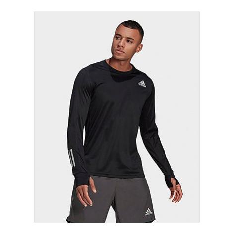 Adidas Own the Run Longsleeve - Black / Black - Herren, Black / Black