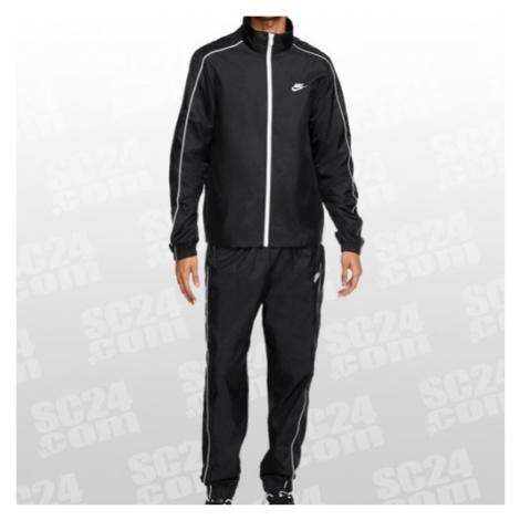 Nike Sportswear Woven Tracksuit schwarz/weiss Größe M