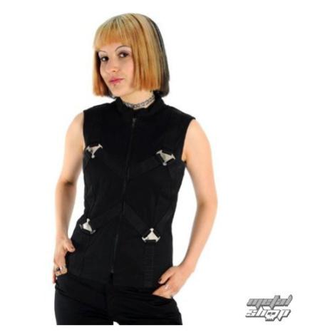 Weste Frauen - Metal Top Denim Black - ADERLASS - A-4-05-001-00