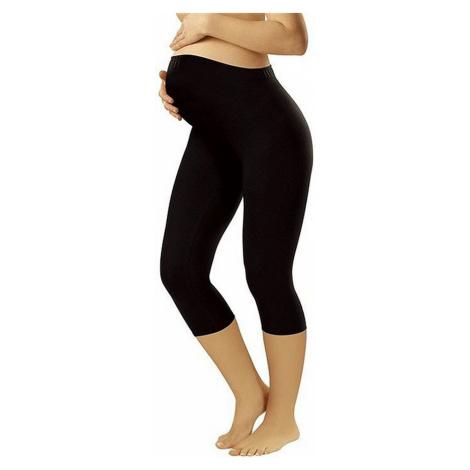 Damen Umstandwäsche Leggins short black Italian Fashion